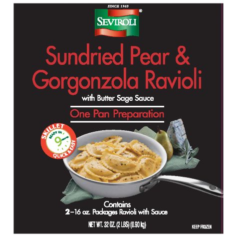 Seviroli Sundried Pear and Gorgonzola Ravioli in Butter Sage Sauce (16 oz., 2 ct.)