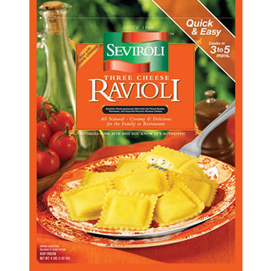 Seviroli Three Cheese Ravioli - Square