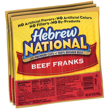 Hebrew National Hot Dogs Natural Casing