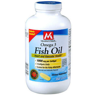 Member's Mark® Omega 3 Fish Oil/1000mg - 350ct