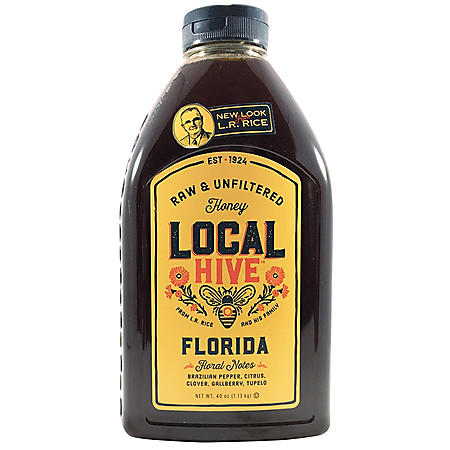 Local Hive Florida Raw & Unfiltered Honey (40 oz.)