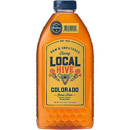 Local Hive Colorado Raw & Unfiltered Honey (40 oz.)