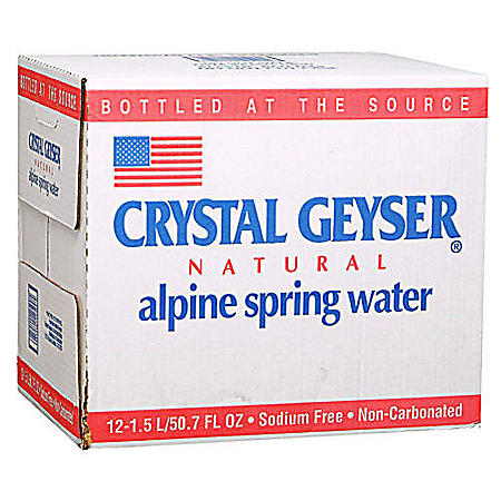 Crystal Geyser Water - 12 / 1.5 L Plastic Bottles
