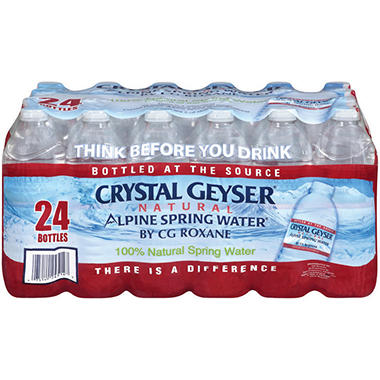 Crystal Geyser Alpine Spring Water - .5 L - 24 ct.