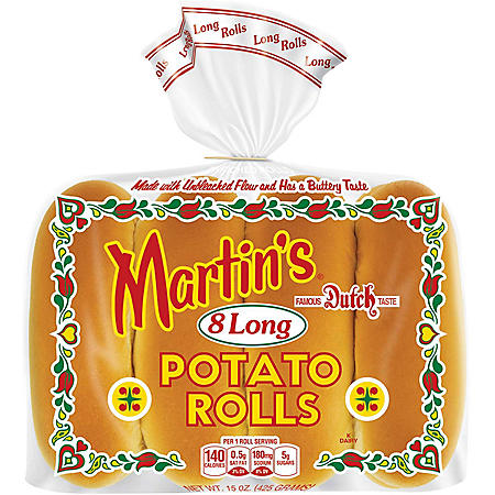Martin's Famous Long Potato Rolls (15 oz., 8 ct.)