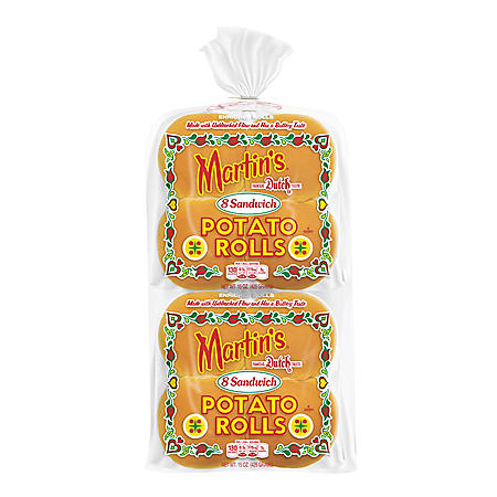 Martin's Potato Sandwich Roll - 2/8 pk.
