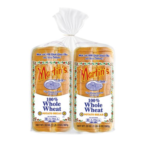 Martin's Whole Wheat Potato Bread - 40 oz. - 2 pk.