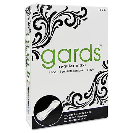 Gards #4 Maxi Pads, 250 Individually Boxed Sanitary Pads