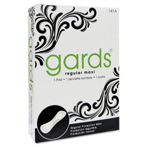 Gards #4 Maxi Pads, 250 Individually Boxed Sanitary Pads