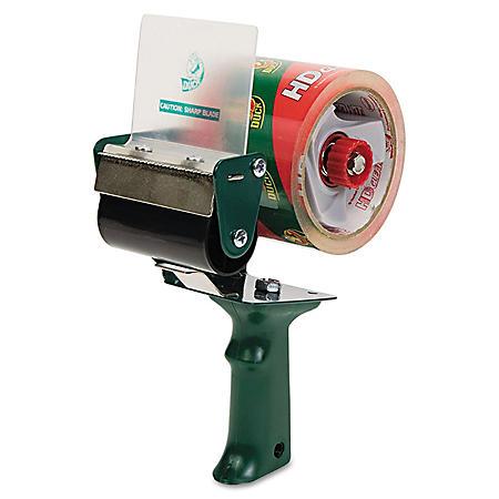 "Duck - Extra-Wide Packaging Tape Dispenser, 3"" Core -  Green"