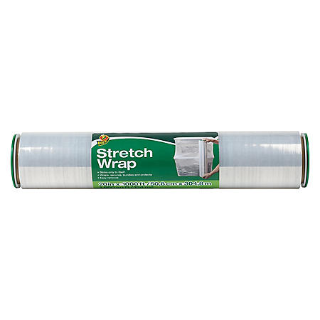 "Duck Brand Stretch Wrap, Clear, 20"" x 1,000'"