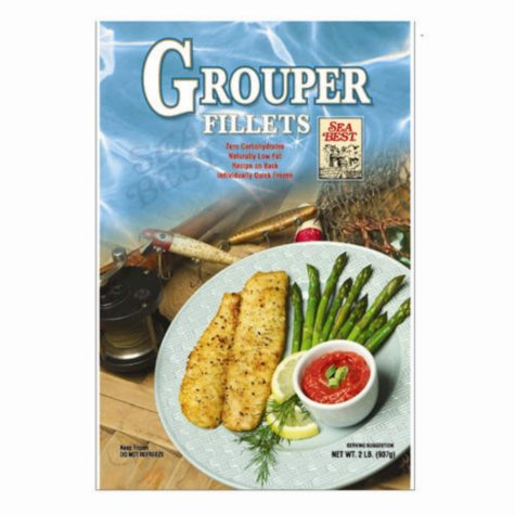 Frozen Grouper Fillets - 2 lb.