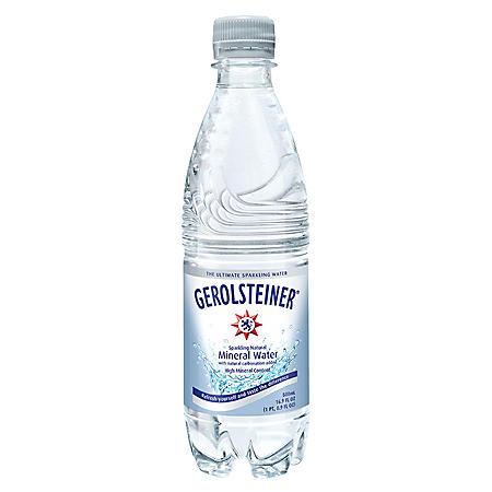 Gerolsteiner Sparkling Natural Mineral Water (16.9oz / 24pk)