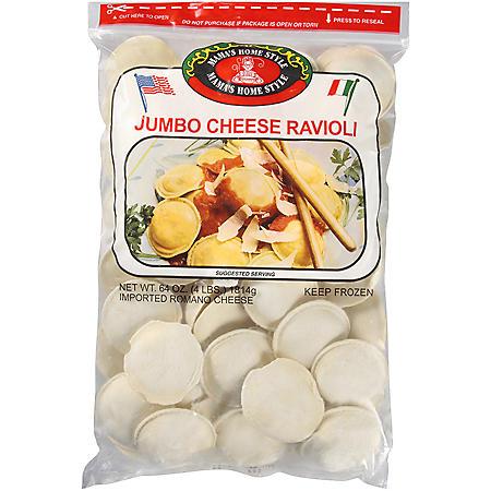Mama's Home Style Jumbo Cheese Ravioli - 64oz