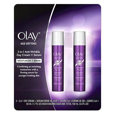 Olay Age-Defying Anti-Wrinkle Day Cream + Serum - 2 pk.