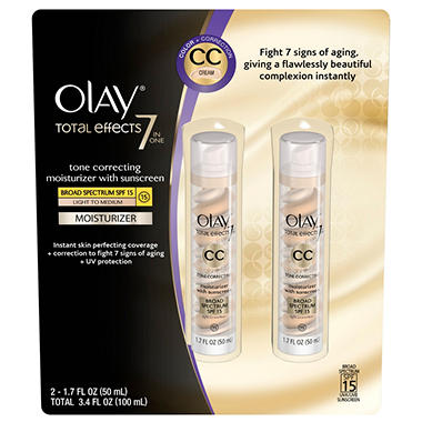 Olay Total Effects 7-in-1 Moisturizer - 1.7 fl.oz. - 2 pk.