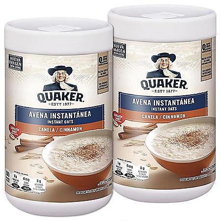 Quaker Avena Cinnamon Instant Oats - 23.2 oz - 2 pk.
