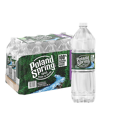 Poland Spring 100% Natural Spring Water (1L / 15pk)