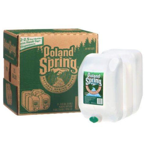 Poland Spring 100% Natural Spring Water (2.5 gal., 2 pk.)