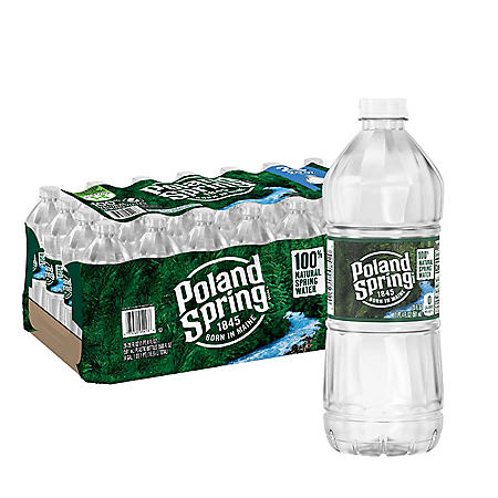 Poland Spring 100% Natural Spring Water (20oz / 28pk)