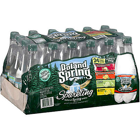 Poland Spring Sparkling Natural Spring Water Variety (.5 L bottles, 24 pk.)