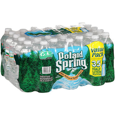 Poland Spring 100% Natural Spring Water (16.9 oz. bottles, 35 pk.)