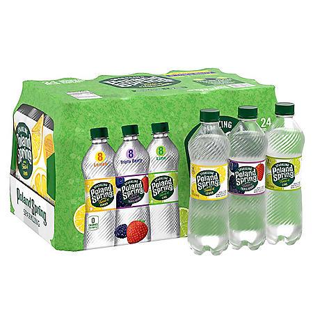 Poland Spring Sparkling Spring Water Variety Pack (16.9 fl. oz., 24 pk.)