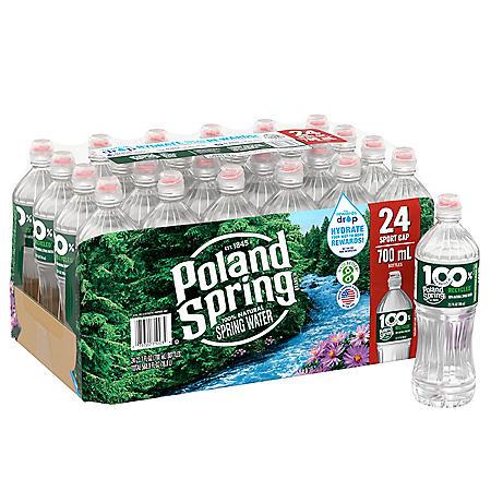 Poland Spring 100% Natural Spring Water (23.7oz / 24pk)