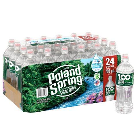 Poland Spring 100% Natural Spring Water (700 ml bottles, 24 pk.)