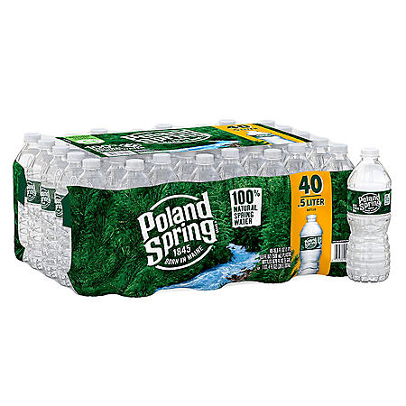 Poland Spring 100% Natural Spring Water (16.9oz / 40pk)