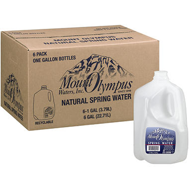 Mount Olympus Natural Spring Water - 6/1 gal.