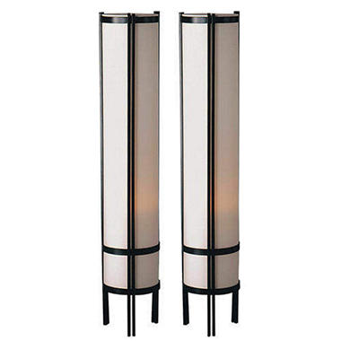 Japanese Floor Lamp Set - 2 pc.