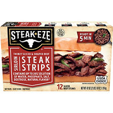 Steak-EZE® Thin Sliced Sirloin Beef Steak - 42oz