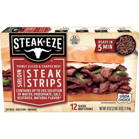 Steak-EZE® Thin Sliced Sirloin Beef Steak - 42oz
