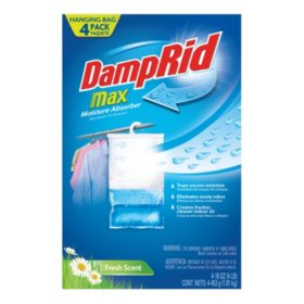 DampRid High Capacity Moisture Absorber Hanging Bag (4 pk.)