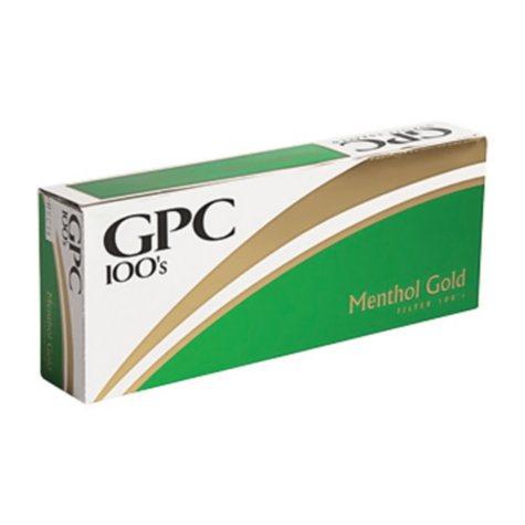 GPC Gold Menthol 100s Soft Pack (20 ct., 10 pk.)