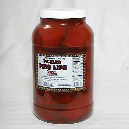 Farm Fresh Pickled Pigs Lips - 1 gal.