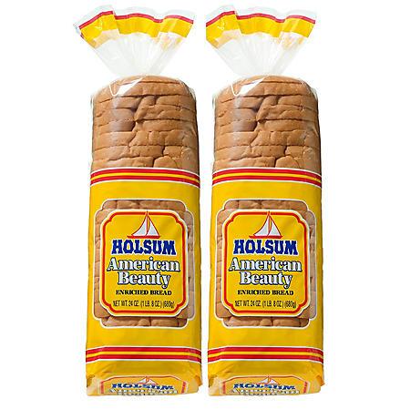 Holsum American Beauty White Bread (24oz / 2pk)