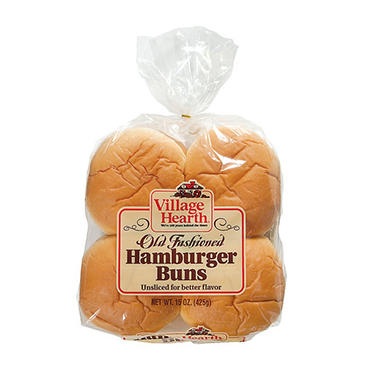 Village Hearth Hamburger Bun (16 ct., 30 oz.)
