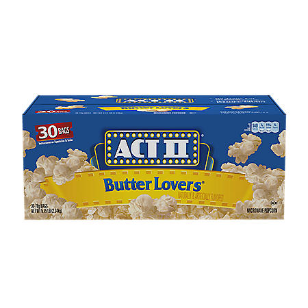 Act II Butter Lovers Microwave Popcorn (3 oz., 30 pk.)