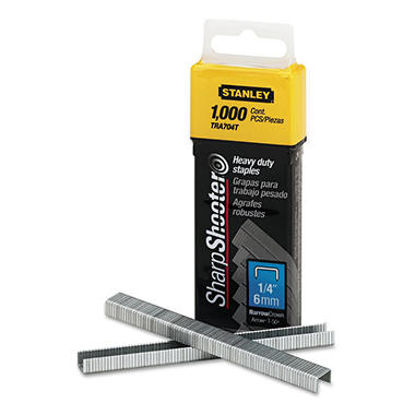 Stanley Bostitch - Sharpshooter 1/4 Inch Leg Length Staples - 1,000 Pack