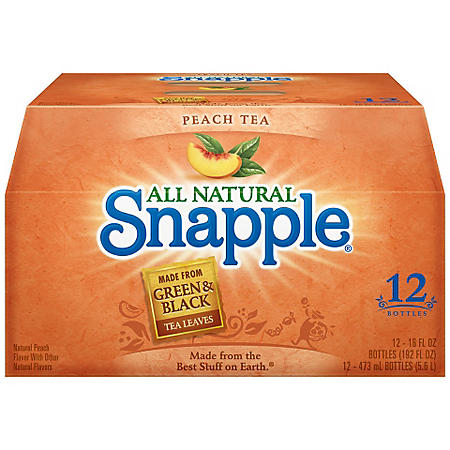 SNAPPLE PEACH TEA 12 / 16OZ BOTTLES