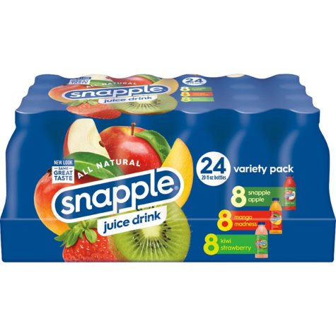 Snapple Juice Variety Pack (20 oz., 24 pk.)