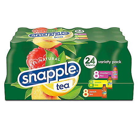 Snapple Tea Variety Pack (20 oz./ 24 pk.)