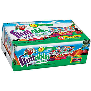 Apple & Eve Fruitables Fruits & Vegetables Juice Variety Pack (32 ct.)