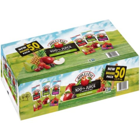 Apple & Eve 100% Juice Box Variety Pack (6.76 oz., 50 ct.)