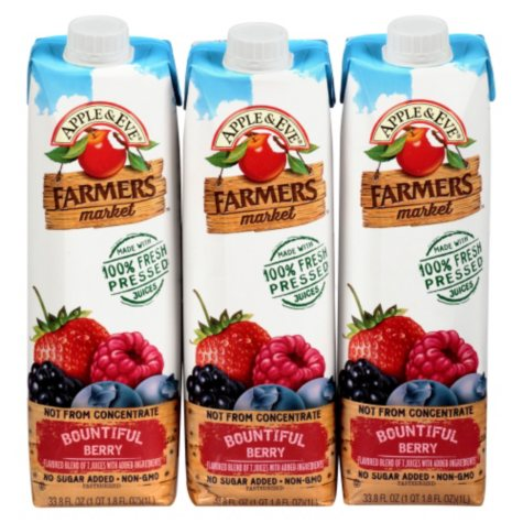 Apple & Eve Farmers Market Bountiful Berry (33.8 oz. ea., 3 pk.)