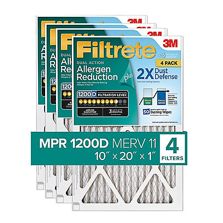 Filtrete Dual-Action Micro Allergen Plus 2X Dust Defense Filter (4 Pk.)