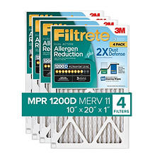Filtrete Dual-Action Micro Allergen Plus 2X Dust Defense Filter (4-pk.)