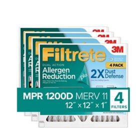 Filtrete Dual-Action Micro Allergen Plus 2X Dust Defense Filter (4-pk.)